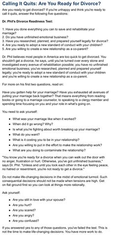 marriage readiness test