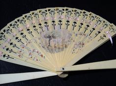 Hand Fan Painted Celluloid Vintage  Victorian by MidCenturyMonkey, $18.00