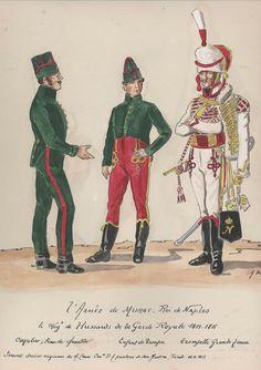 Ussaro, Enfant de troupes e tromba del 4 rgt. ussari del regno di Murat