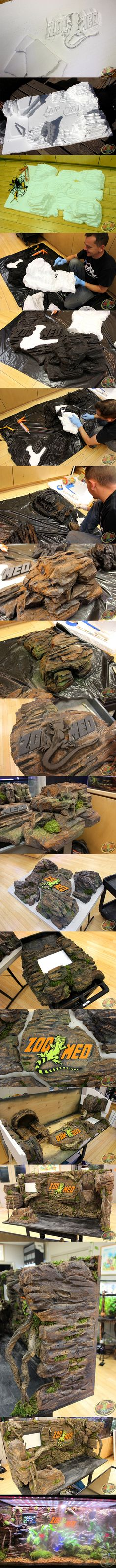 Incredible custom #Habitat display by Zoo Med Animal Care Specialist Jim for the 2015 @globalpetexpo.