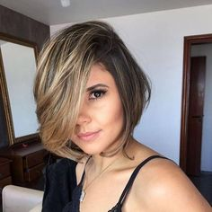 Stylish Women Brown Short Wigs Bob Style Straight Curly Wavy Cosplay Party Wig , in 2020 Blonde Haare Make-up, Blonde Hair, Shoulder Length Curly Hair, Corte Y Color, Short Hair Wigs, How To Make Hair, Wig Hairstyles, Hair Lengths, Dyed Hair