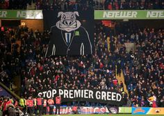 Amazing display from @CPFC   protest against Premier League tonight. #CPFC