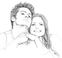 Dylan O'Brien and Holland Roden by Golden-Plated.deviantart.com on @deviantART