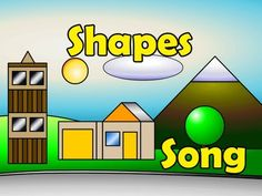 Teaching shapes to kindergarten is part of many standards based curriculums. I wanted to share creative ways for teaching shapes in kindergarten. Math Songs, Kindergarten Songs, Preschool Music, 2d Shapes Kindergarten, Preschool Learning, Kids Songs, Early Learning, Fun Math, Math Activities