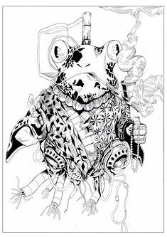 #MelicsRichardArtwork #Frog #FrogInk #ink #Illustration
