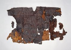 Møgelmose_Skinddragt Leather tunic  National Museum of Denmark. Edit: Iron Age not Viking period apparently