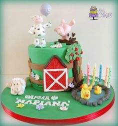 A party in the farm! - by M&G Cakes @ CakesDecor.com - cake decorating website
