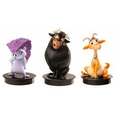 Three different topper figurines are available for The story of Ferdinand pieces per box). The toppers are good for a collector's alarm! The Story Of Ferdinand, Cinema, Group, Decor, Movies, Decoration, Dekoration, Inredning, Interior Decorating