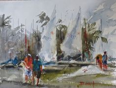 Sailing Club,W Palm Beach, Florida, by artist Diann Benoit Jameyfield