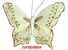 The White/Purple Iridescent Glitter artificial butterflies are the elaborately handcrafted butterflies with exquisite design.Beautiful Feather Butterflies in assorted colors and sizes!  Artifical Butterflies-Decorative Butterflies-Fake Butterflies-Floral Crafts.