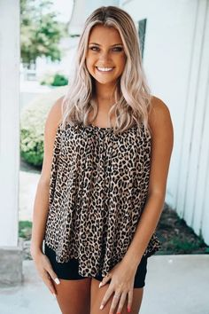 Unstoppable Feeling Top: Leopard Ladies Boutique, Boutique Clothing, Fashion Boutique, Women's Clothing, Badass Style, Cool Style, Cute Wedges, Trendy Girl, Cute Rompers
