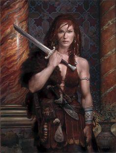 Hija del rey Haxon, huye del palacio para empezar una guerra contra las hadas, engañada por la bruja Sagana, que la maldijo cuando era un bebé.