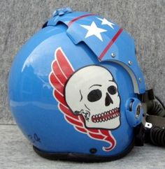 Custom Flight Helmets- Painted Helmets