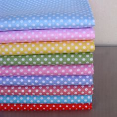 40cm*50cm 9 pcs Polka Dots Cotton Fabric Tilda Doll Cloth Kids BeddingTextile For Sewing Quilting Patchwork
