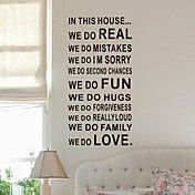 Words We Do in This Room Wall Stickers – USD $ 29.99
