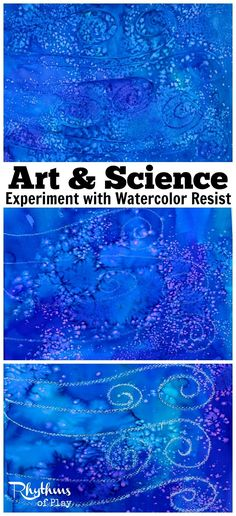 Fun DIY art & science for kids. Try this simple STEAM experiment with watercolor resist. What do you think will resist watercolors the best and why?