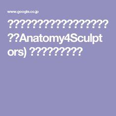 カルプトソフト向けの美術解剖学サイト(Anatomy4Sculptors) スカルプトを開始す