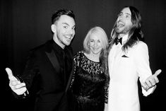 Oscar winner Jared Leto with his mom and brother, before the big show