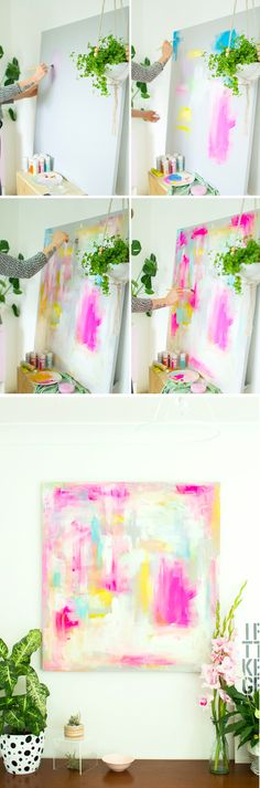 DIY Abstract Artwork - Furniture Hacks Tutorial