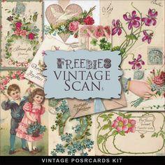 Vintage Birthday Greetings Cards Kit