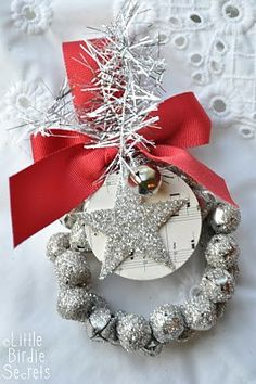 jingle bells on wire wreaths