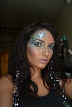 The Beauty Sheriff: Mermaid Makeup - love the hair as a tie-in to the makeup here