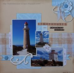 Lighthouses (of Kangaroo Island) layout by Francine Davis form a sketch by Liz Chidester