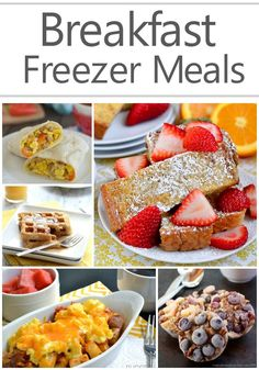 Breakfast Freezer Meals! Easy Recipes You Can Make Ahead of Time!