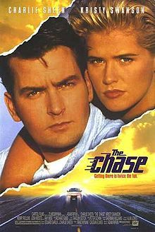 """They're driving each other crazy: Charlie Sheen as a wronged suspect who wants to get away and Kristy Swanson as an heiress who has a car. Produced by Cassian Elwes (""""Wesley's"""" brother - inconceivable!)."""