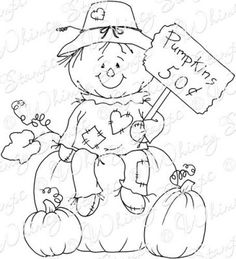 Fall Coloring Sheets, Fall Coloring Pages, Halloween Coloring Pages, Adult Coloring Pages, Coloring Books, Fall Halloween, Halloween Crafts, Thanksgiving Coloring Pages, Whimsy Stamps