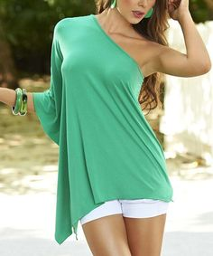Look what I found on #zulily! Sea Green Asymmetric Top #zulilyfinds