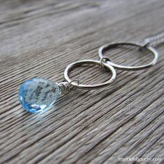 blue topaz zen tumbles necklace at Amy Friend Jewelry