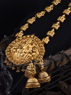 Traditional Mahalakshmi Antique Haaram Set