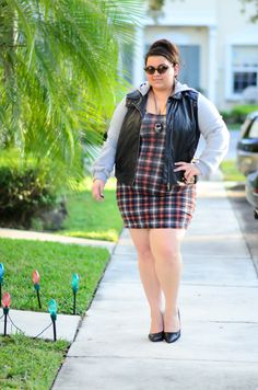 Kirstin Marie nails the plaid bodycon look.