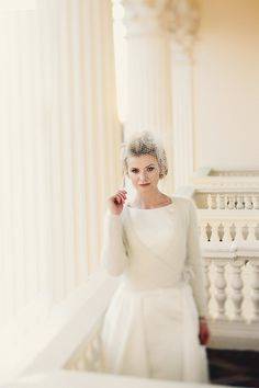 Image by Marshal Gray - Bride Shanade looked beautiful in the prettiest ballet-style wrap cardigan, you can see the wedding in full here