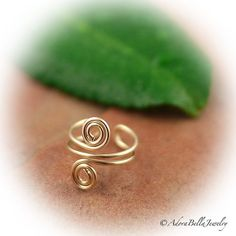Spiral Ear Cuff 14KT Gold Filled Wire Ear by AdoraBellaJewelry, $9.00