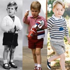 Princes Charles, William and George