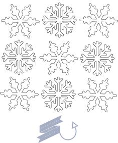 Zima DIY ☃ + śnieżynki do wydrukowania (snowflakes freebies) Christmas Stencils, Christmas Paper Crafts, Christmas Projects, Christmas Crafts, Snowflake Stencil, Snowflake Template, Royal Icing Templates, Girls Night Crafts, Front Door Christmas Decorations
