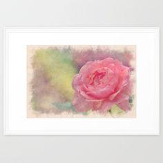 Romantic rose  Framed Art Print #watercolor #flowers #flower #spring #nature #homedecor #betterhome #society6 #rose #roses #abstract #painting #pillows #duvet #Throw Pillow #Duvet Cover #Phone Case #Rugs #Rug #Showercurtain #laptopsleeve #iphonecover #ipadcase #livingroom #bedroom #dorm decor #iPhone skin #iPod #iPhone case #pillow #clock #laptopskin #iPadcase #diningroom #bedroom #officedecor #home decor #galaxyphonecase #pillow #wallart #artprint #framedartprint #canvasartprint