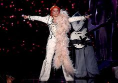 Lady Gaga performs on the 58th Annual GRAMMY Awards on Feb. 15 in Los Angeles