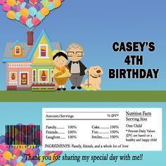 free disney up printables for party favors charlie s 1st birthday