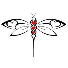 Dragonfly tattoo... The three hearts can symbolize my three youngsters.... Check out more at the photo