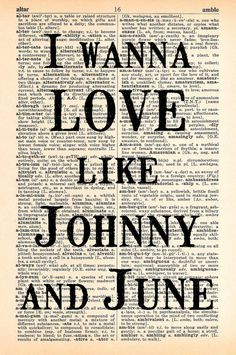 Johnny And June Dictionary Print - Upcycled Dictionary Print, Vintage Art…