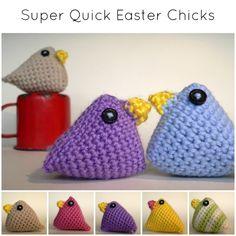 Super Quick Easter Chicks (Crochet Easter Chicks) Quick Crochet, Unique Crochet, Learn To Crochet, Single Crochet, Free Crochet, Crochet Easter, Easter Crochet Patterns, Crochet Crafts, Operation Christmas Child Shoebox