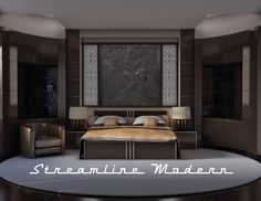 Art Deco Zeus relief panel and lighted wall partitions available at www.streamlinemodern.com