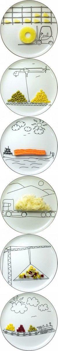 Assiettes décor