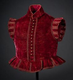 Jerkin, 17th century, Italy.  Helen Larson Collection. 'Highlights from the collection include a c. 1610 Italian jerkin, eighteenth-century cloth-of-silver and gold garments, nineteenth-century haute couture, and many ensembles with royal provenance, including over 30 objects worn by Queen Victoria' http://www.laartshow.com/curated-exhibitions