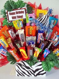 Happy birthday wild thing, gift basket