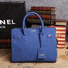 New POLO Fashion Simple Nubuck Leather One Shoulder OL Tote(Royal Blue) a00da0e9d6