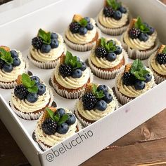 The picture may contain: food – pastry types Fruit Cupcakes, Cupcake Flavors, Baking Cupcakes, Yummy Cupcakes, Cupcake Recipes, Baking Recipes, Cupcake Cakes, Dessert Recipes, Mini Desserts